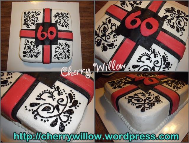 Dads 60th Birthday Cake Cherry Willow
